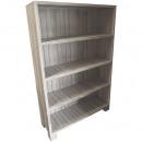 Wooden cabinet Freddy, L118cm, T40cm, H180cm, whit